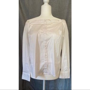 White Express Off the Shoulder Shirt
